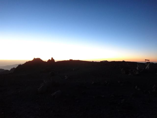 日の入りin 5500m