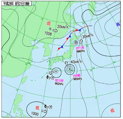 天気図21日